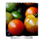 10044 Tomatoes Shower Curtain