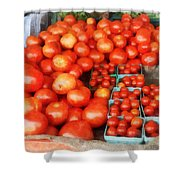 Tomatoes For Sale Shower Curtain