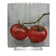 Tomatoes On Vine Shower Curtain