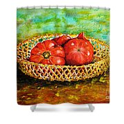 Tomatoes Shower Curtain