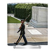 Tomb Guard Shower Curtain