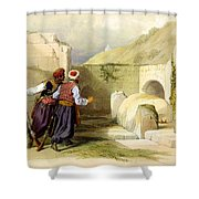 Tomb Of Joseph At Shechem 1839 Shower Curtain