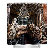 Tomb Of Pope Alexander Vii By Bernini Shower Curtain