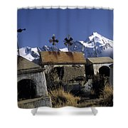 Tombs With A View Shower Curtain