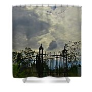 Tombstone Picture Perfect Halloween Image Shower Curtain