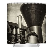 Toned Whistles And Bells Shower Curtain