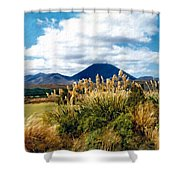 Tongariro National Park New Zealand Shower Curtain