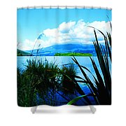 Tongariro National Park Oil On Canvas Shower Curtain
