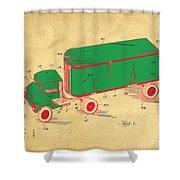 Tonka Truck Patent Shower Curtain