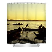 Tonle Sap Sunrise 05 Shower Curtain