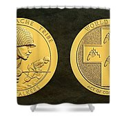 Tonto Apache Tribe Code Talkers Bronze Medal Art Shower Curtain