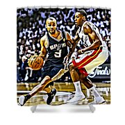 Tony Parker Painting Shower Curtain