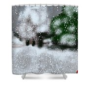 Too Close To Winter Shower Curtain