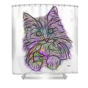 Too Cute - Square Version Shower Curtain