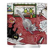 Too Many Pets Shower Curtain