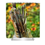 Tools Of The Painter Shower Curtain