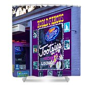 Tootsies Nashville Shower Curtain by Brian Jannsen