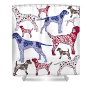 Top Dogs Shower Curtain