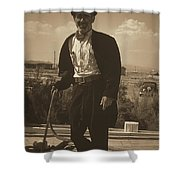 Top Hat And Tails Monochrome Shower Curtain