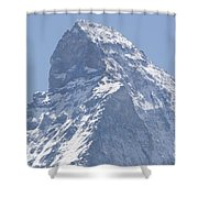 Top Of A Snow-capped Mountain Shower Curtain