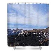 Top Of Independence Pass Panorama Shower Curtain