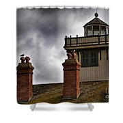 Top Of Point Fermin Lighthouse Shower Curtain