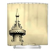 Top Of The Barn Tin Finial Shower Curtain
