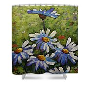 Top Of The Bunch Daisies By Prankearts Shower Curtain