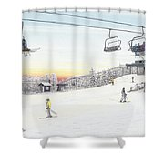 Top Of The Mountain At Seven Springs Shower Curtain