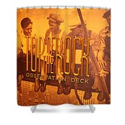 Top Of The Rock Observation Deck Shower Curtain