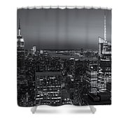 Top Of The Rock Twilight V Shower Curtain