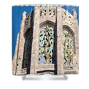Top Of The Singing Tower House					 Shower Curtain