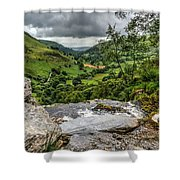 Top Of The Waterfall Shower Curtain