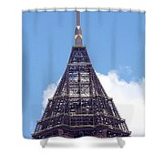 Top Of Tower Of Bank Of America Plaza Shower Curtain