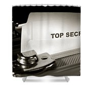 Top Secret Document In Armored Briefcase Shower Curtain