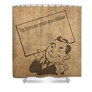 Top Ten Reasons People Procrastinate Pun Humor Motivational Poster Shower Curtain
