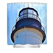 Top View Of Portland Head Light Shower Curtain