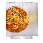 Top View On Drink Shower Curtain