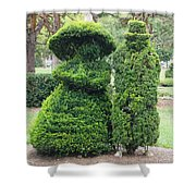 Topiary Couple Shower Curtain