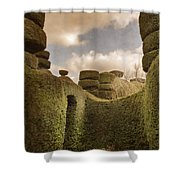 Topiary Maze In A Formal Garden Shower Curtain