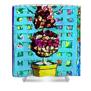 Topiary Of Dried Roses Shower Curtain