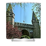Topkapi Palace Wall And Gate In Istanbul-turkey Shower Curtain