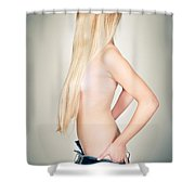 Topless Beauty Shower Curtain