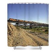Topock Bridge Freight Shower Curtain