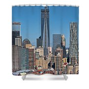 Topping Out Shower Curtain