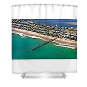 Topsail Island Aerial Panels Shower Curtain