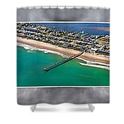 Topsail Island Aerial Panels II Shower Curtain