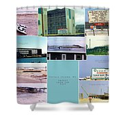 Topsail Island Images From The Past Shower Curtain