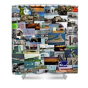 Topsail Island Nc Collage  Shower Curtain