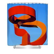 Torch Of Friendship Shower Curtain